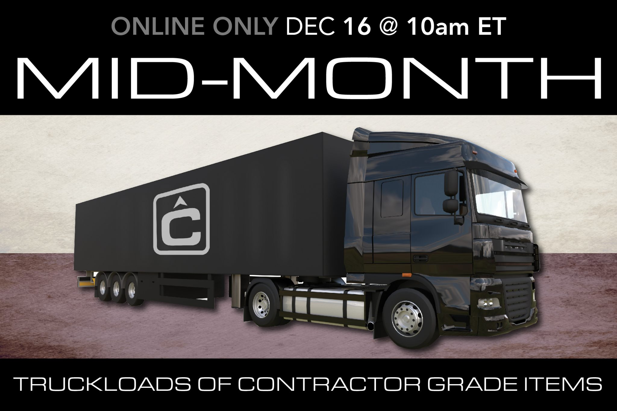 December 2020 Mid Month Auction Public contractor tools equipment