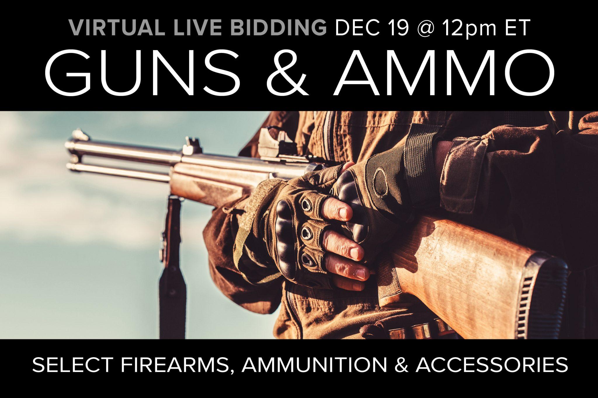 December 2020 gun ammo accessories sale auction Compass