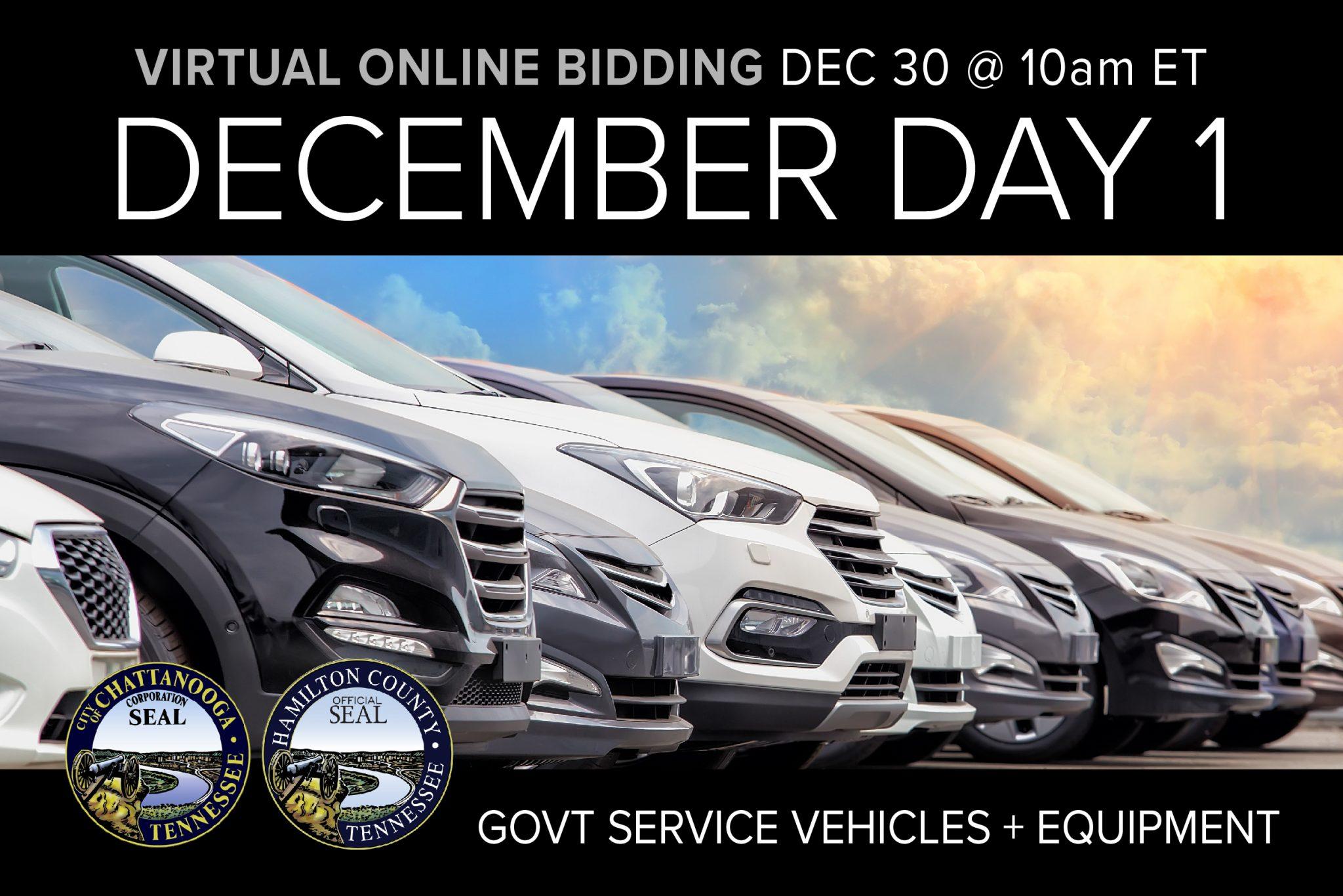 December 2020 Monthly Auction Vehicles, Industrial Municipal Surplus Auction