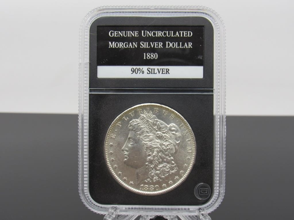 1880-S MORGAN SILVER DOLLAR - 100