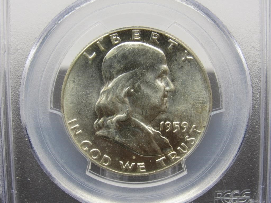 1959 FRANKLIN 50 CENT COIN - 290