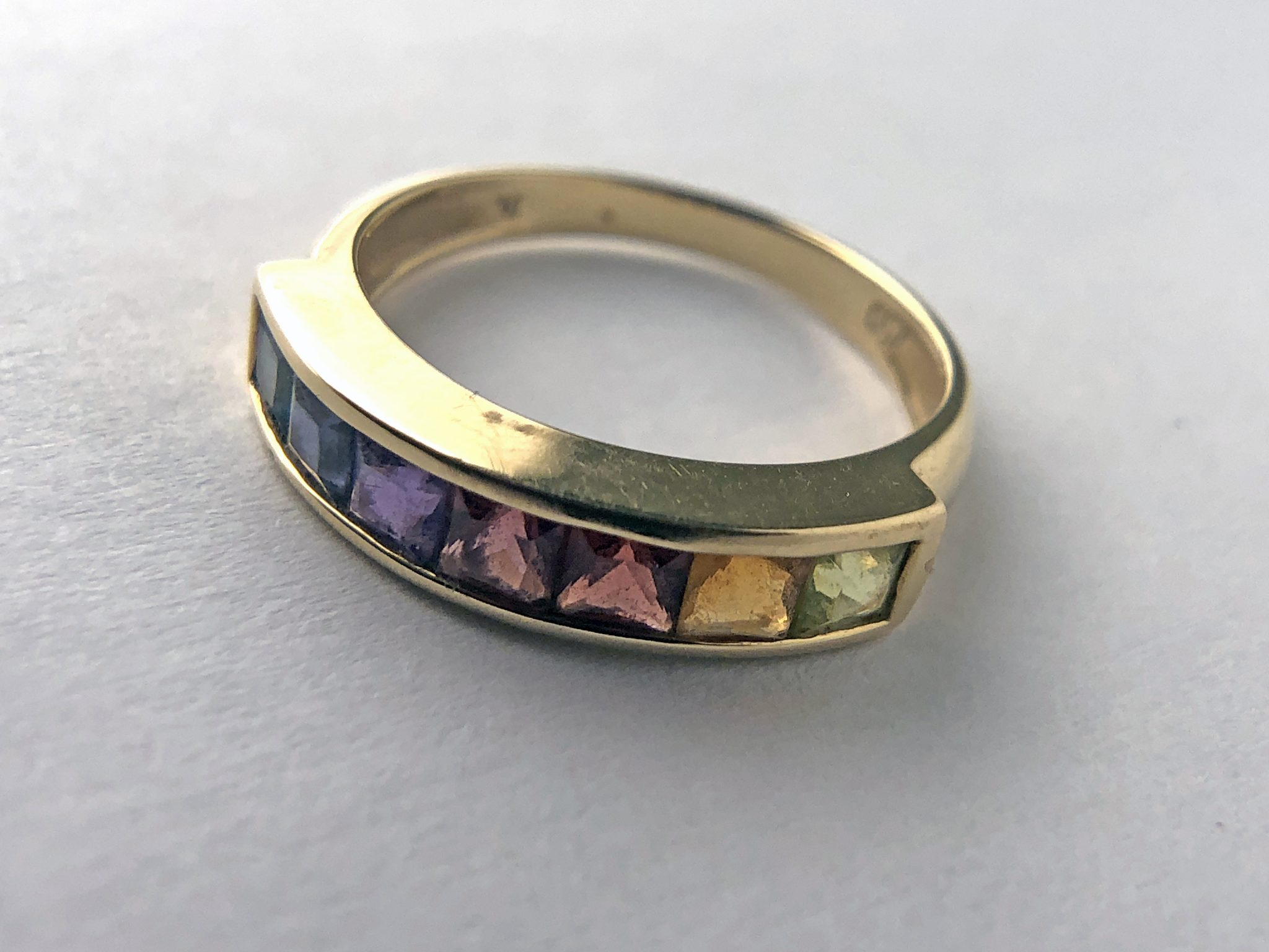 18K RAINBOW COLLECTION RING - 10