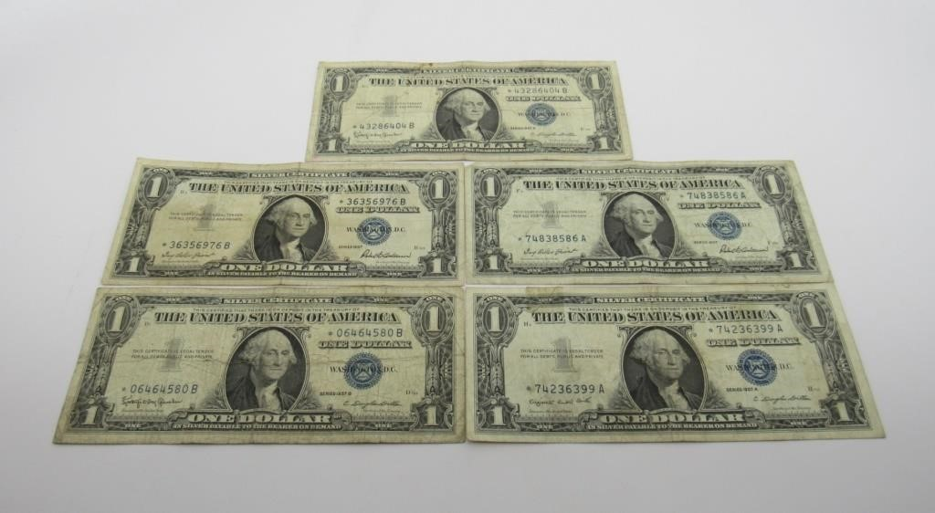 US $1 SILVER CERTIFICATES STAR NOTES - 114