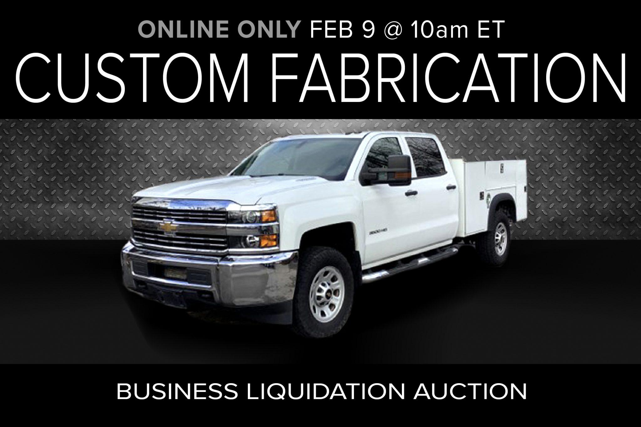Custom Fabrication Business Liquidation Auction