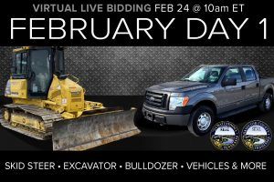 February 2021 Day 1 Industrial Auction Heavy Equipment Vehicles