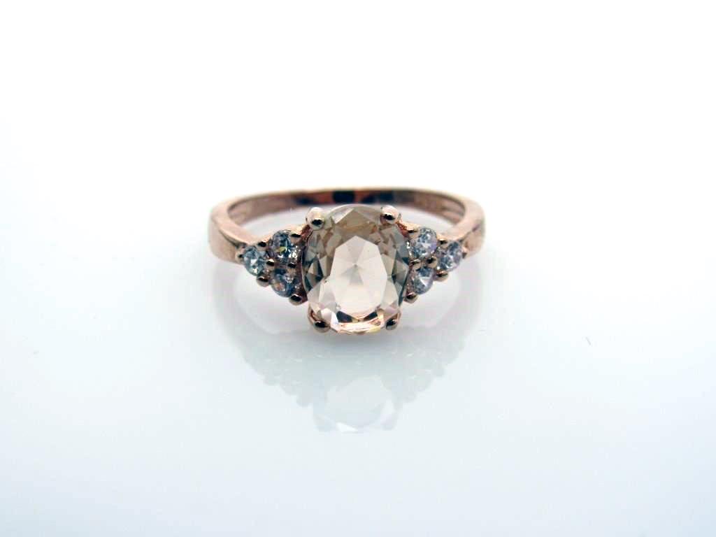 1.50 ct Morganite Designer Ring - 18