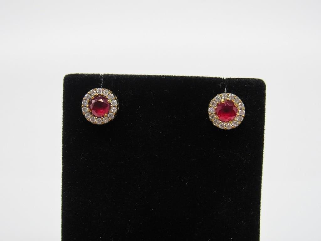 2.50 ct Ruby Earrings - 32