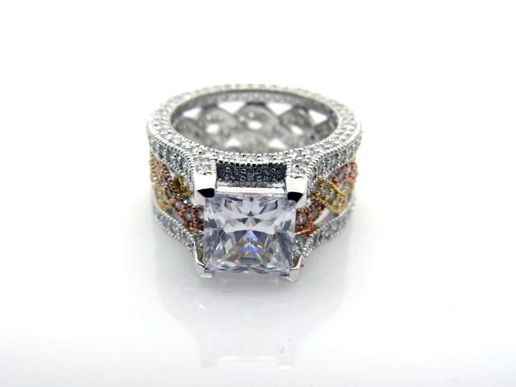 3.75 ct White Topaz Infinity Ring - 41