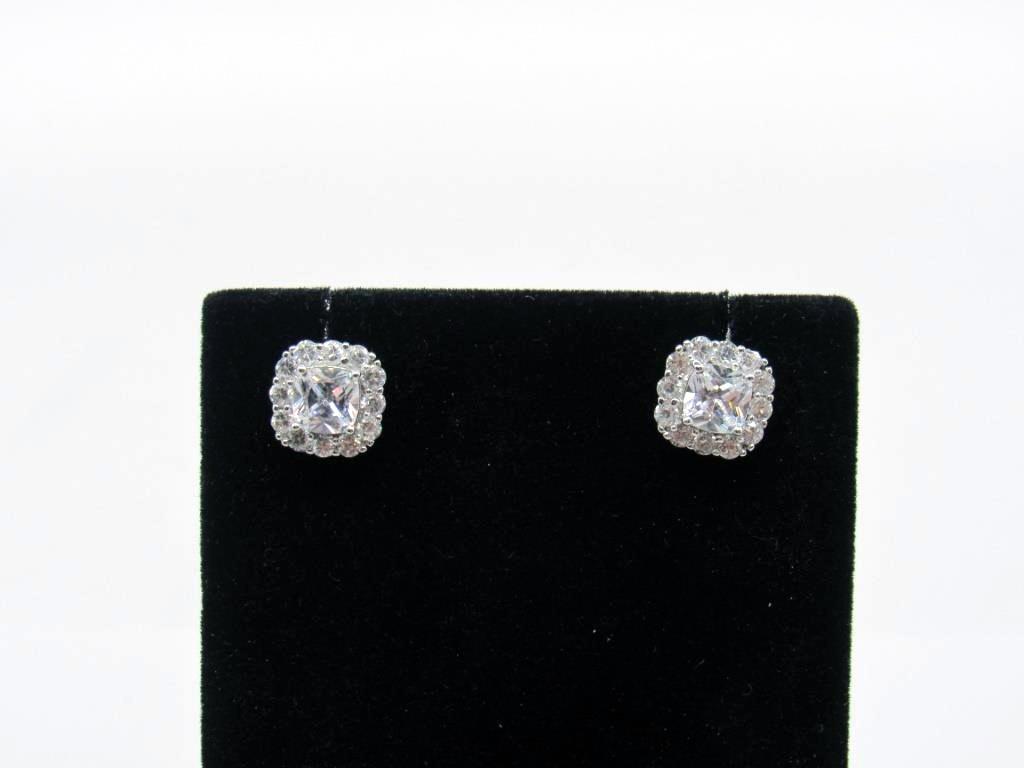 4.00 ct White Topaz Earrings - 21