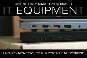 IT Equipment and Surplus Auction Online Only Compass Auctions