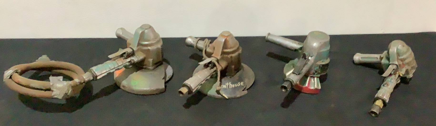 (4) Pneumatic Angle Grinders