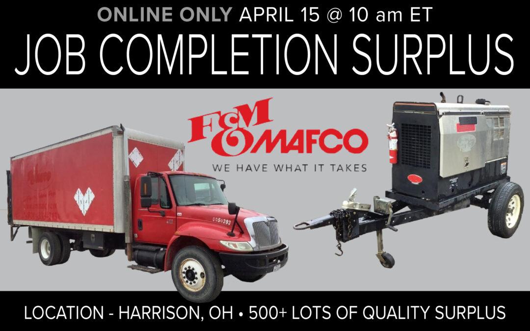 Job Completion Surplus – F&M Mafco – Harrison, OH