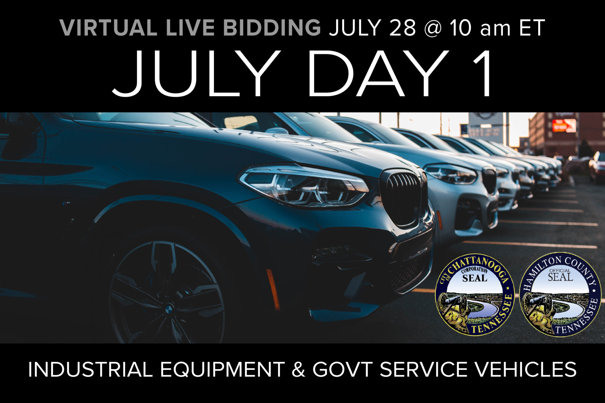 July Day 1 Virtual Live Auction on July 28 at 10am ET