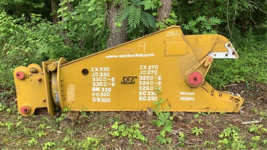 SEC Hydraulic Shear Excavator Attachment