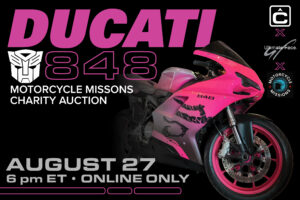 Ducati 848 sold at auction for Motorcycle Missions Charity Auction