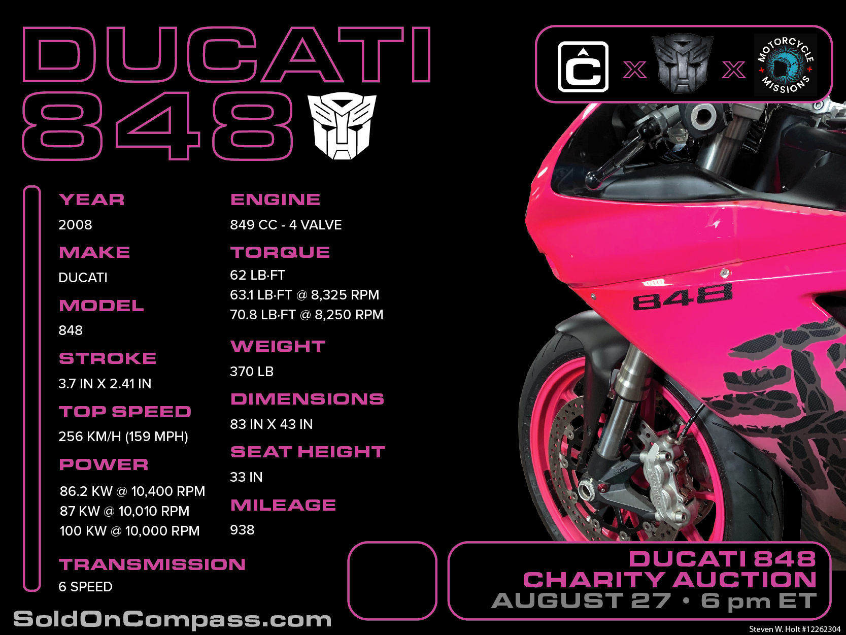 Ducati 848 Motorcycle Missions