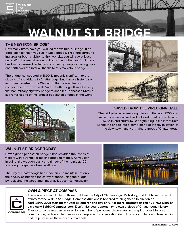 Walnut St. Bridge Construction Timbers