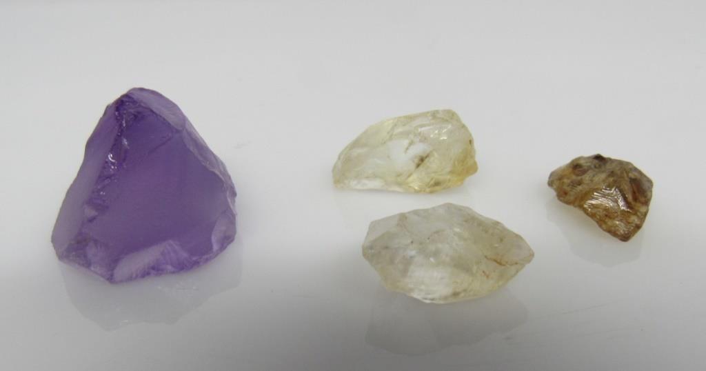 68 ct Amethyst & Yellow Topaz Gemstone