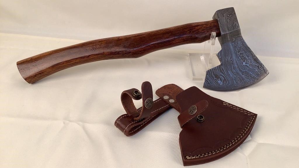 Custom Handmade Damascus Steel Axe