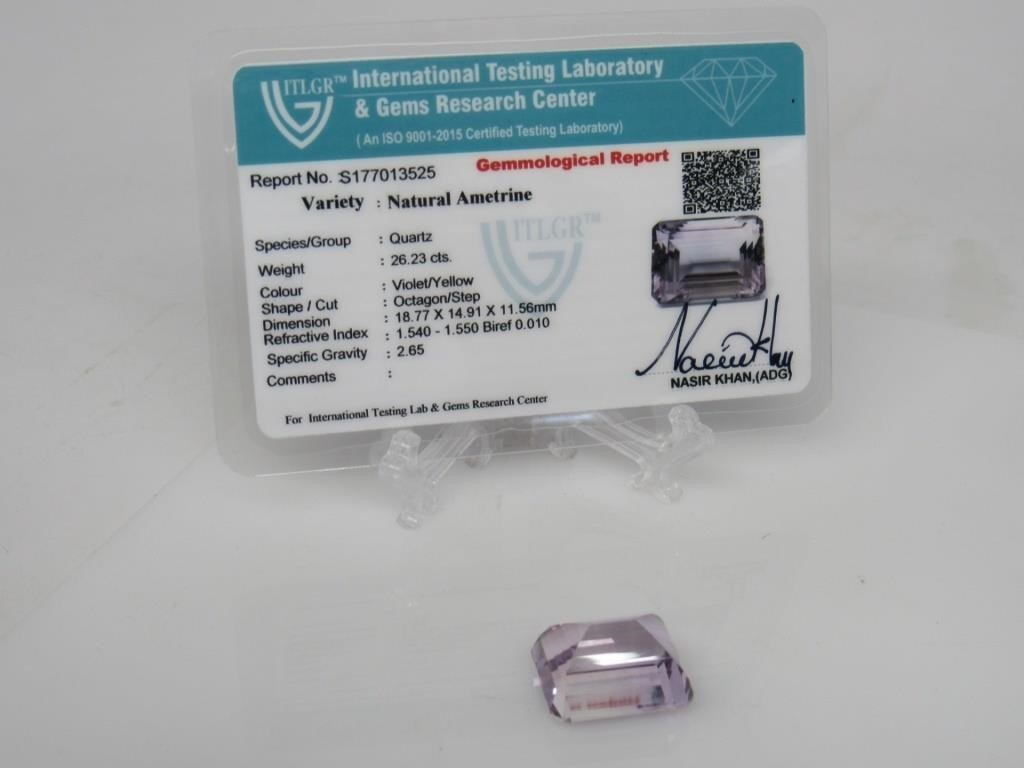 26.23 ct Natural Ametrine Quartz Gemstone