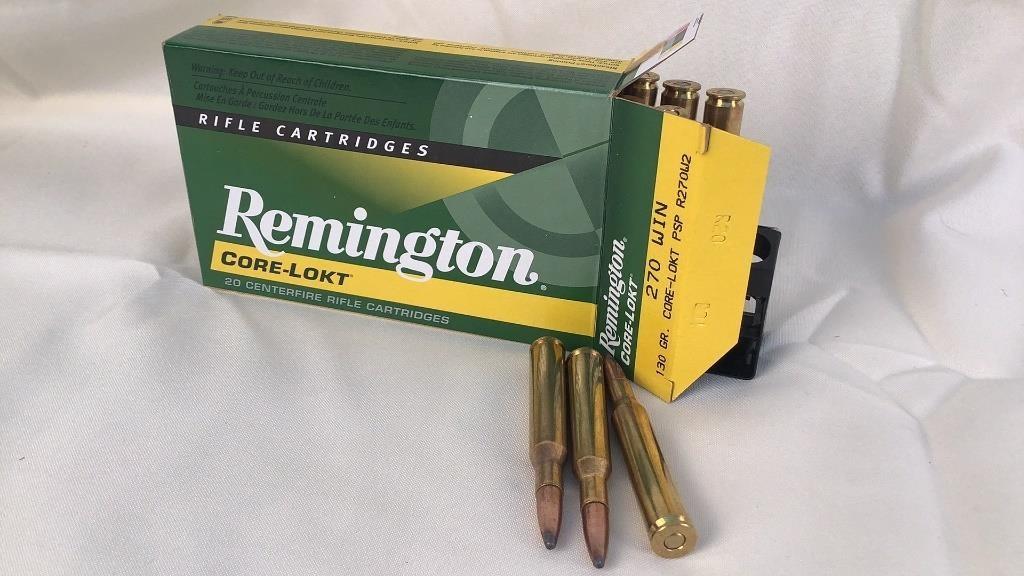 Remington Core-Lokt 270 Win Ammunition
