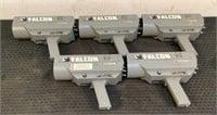 (5) Falcon Radar Guns