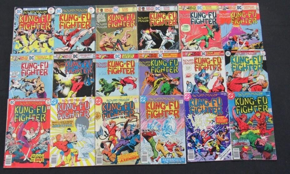 1975 - 1977 DC Kung-Fu Fighter Comic Books