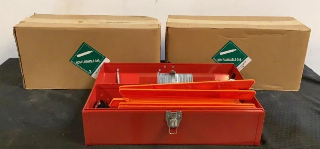 (3) Fire Extinguishers w/ Boxes