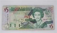 $5 Eastern Caribbean Central Bank