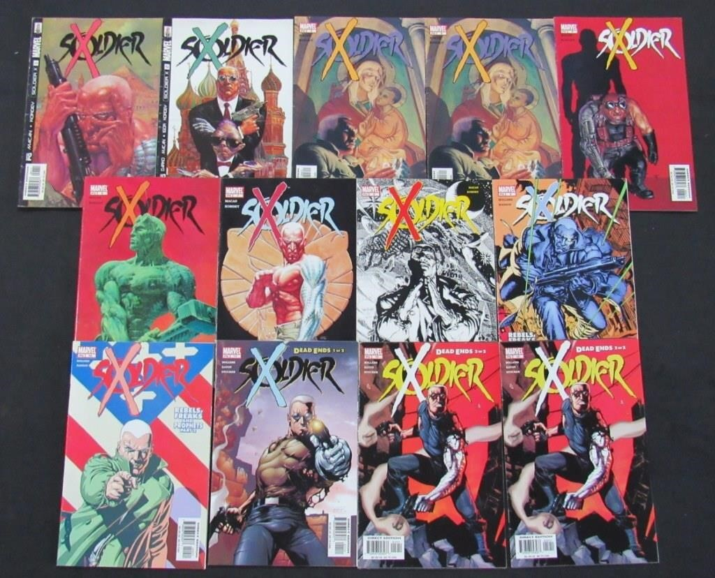 2002 - 2003 Marvel Soldier X Comic Books