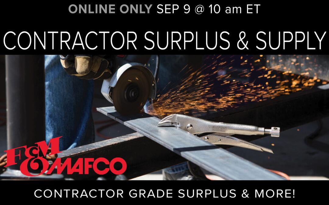 Contractor Surplus & Supply Auction