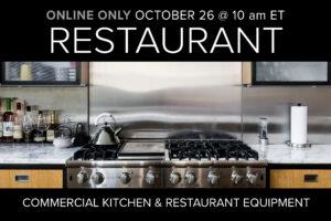 Restaurant & Supplies Monthly Auction