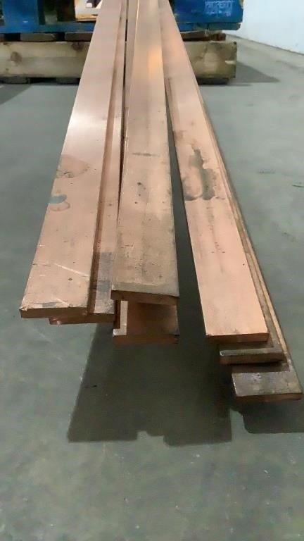 12' Copper Flat Bar Stock
