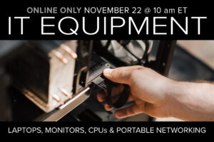 November IT Equipment Auction