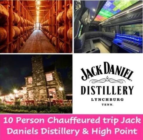 10 Person Chauffeured Trip: Jack Daniels Distillery & High Point