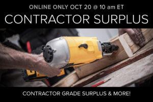 contractor surplus auction October 20
