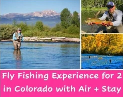 Fly Fishing Experience for 2 in Colorado with Air + Stay