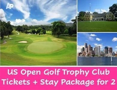 US Open Golf Trophy Club Tickets + Stay Package